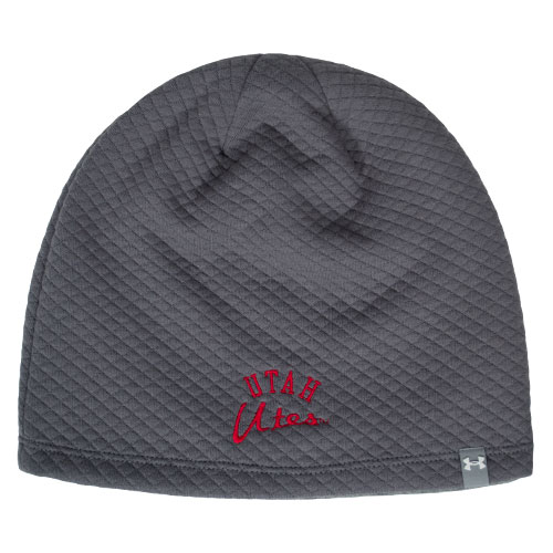 Cover Image For Under Armour Utah Utes Womens Lined Grey Beanie