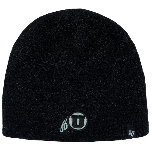 Image For 47 Brand Athletic Logo Women's Black Fuzzy Beanie