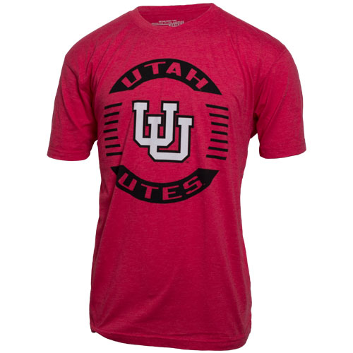 Cover Image For Utah Utes Colosseum Interlocking U Circle T-Shirt