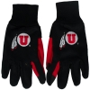Image for Black and Red Athletic Logo Texting Gloves