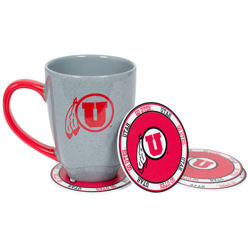 Image For University of Utah Athletic Logo RFSJ Inc Coaster 4 Pack