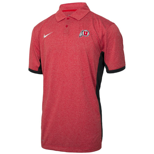 Cover Image For Nike Heathered Two-tone Athletic Logo Polo