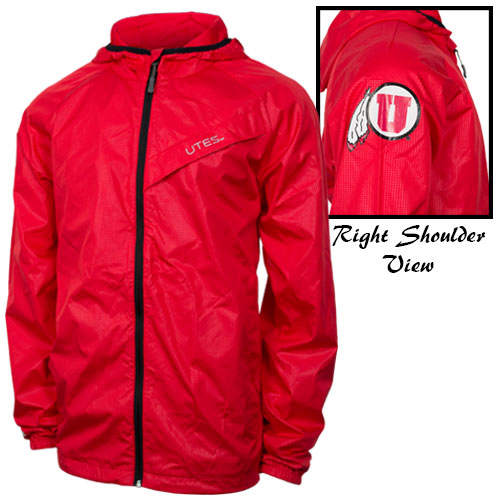 Image For GIII Red Lightweight Rain Jacket