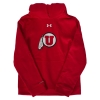 Image for Under Armour Youth Utah Utes Athletic Logo Hooded Sweatshirt