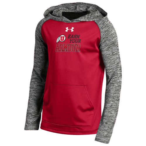 "Image For Under Armour ""Earn Your Armour"" Youth Hooded Sweatshirt"