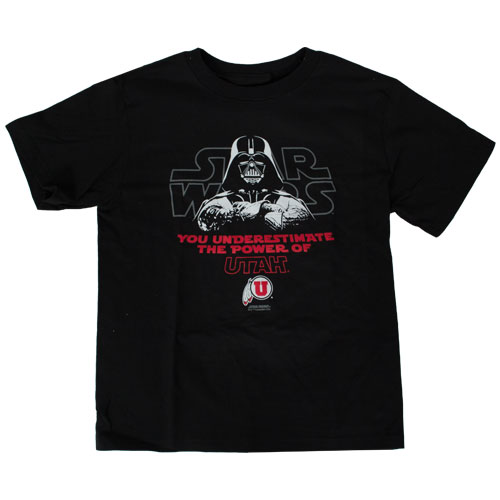 Image For Champion Darth Vader Utah Youth T-Shirt