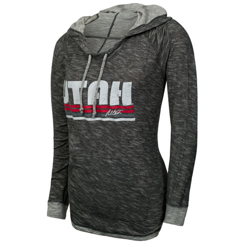 Image For Techstyles Utah Utes Womens Hooded Sweatshirt