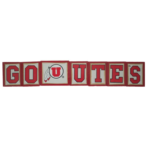 Image For Go Utes Block Set