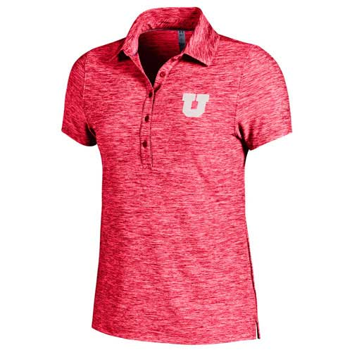 Image For Under Armour Heathered Block U Womens Polo Shirt