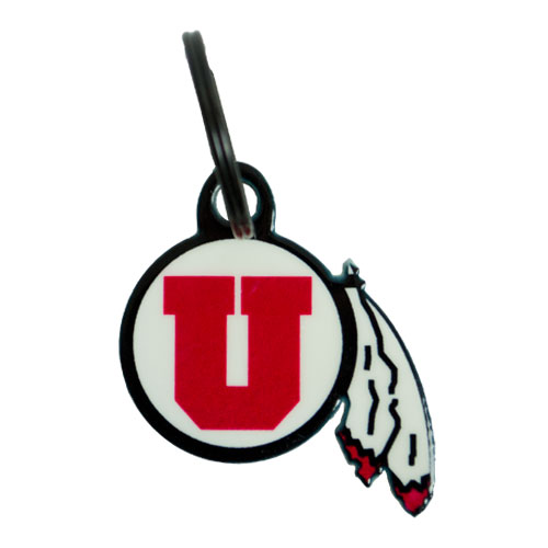 Image For Athletic Logo Metal Keychain