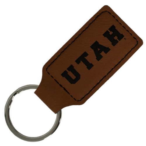 Image For UTAH Leather Keytag