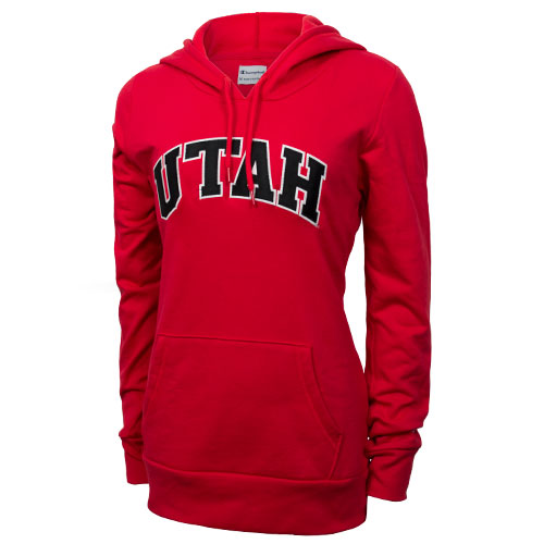 Image For Champion Arched Utah Womens Hooded Sweatshirt