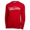 Image for Hillflint Women's Cursive Utah Utes Red Sweater