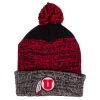 Image for 47 Brand Athletic Logo Heathered Red and Black Beanie