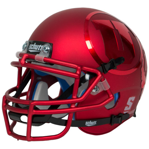 Image For Mini Utah Utes Red Tonal Athletic Logo Helmet