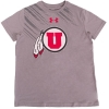 Image for Under Armour Athletic Logo Gray Youth T-Shirt