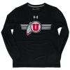 Image for Under Armour Sideline Athletic Logo Long-Sleeved Youth Shirt