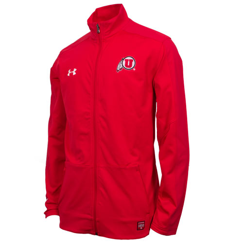 Cover Image For Under Armour Red Athletic Logo Jacket