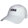 Image for Utah White Cotton Adjustable Hat