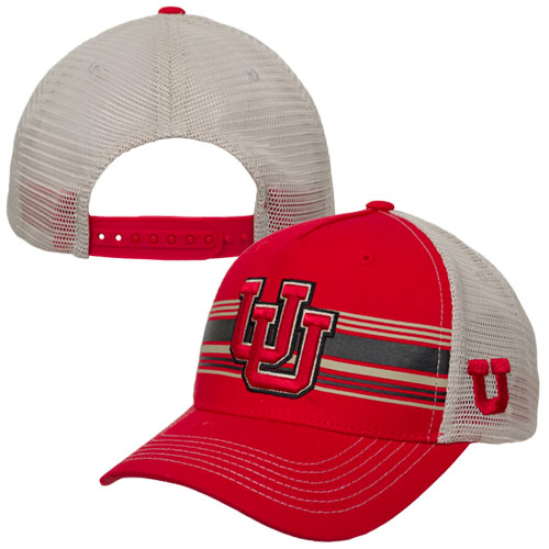 Image For Top of the World Interlocking U Striped Youth Adjustable Hat