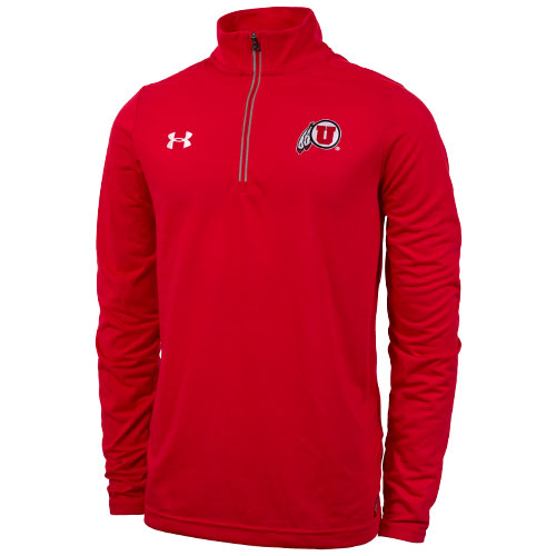Image For Under Armour Quarter Zip Utah Athletic Logo Pullover