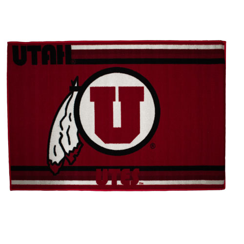 Image For Utah Utes Athletic Logo Tufted Rug