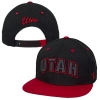 Image for Zephyr Utah Black and Red Adjustable Snapback Hat