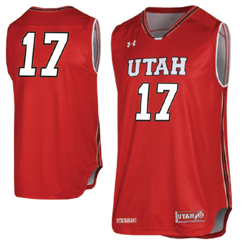 Image For Under Armour Youth 2017 Red Basketball Jersey