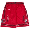 Image for Under Armour Red Basketball Striped Shorts