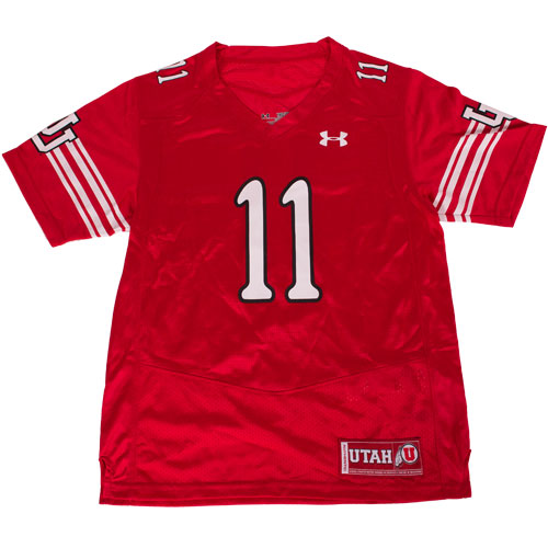 Image For Under Armour Number 11 Youth Utah Football Jersey