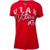 Image for Utah Utes Foil Script Athletic Logo Women's Tee