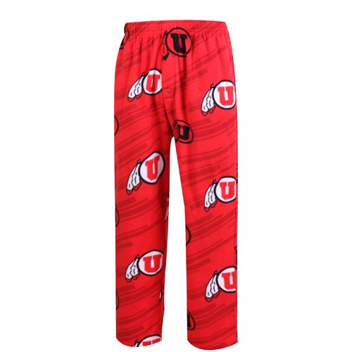 Cover Image For Utah Patterned Athletic Logo Pajama Pants