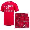 Image for Men's Utah Utes Athletic Logo Pajama Sleep Set
