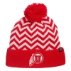 Image for Zephyr Athletic Logo Red White Zigzag Knitted Beanie