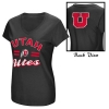 Image for Colosseum Utah Utes Athletic Logo Womens Black V-Neck TShirt