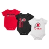 Image for Colosseum Utah Utes Athletic Logo 3 Pack Onesie