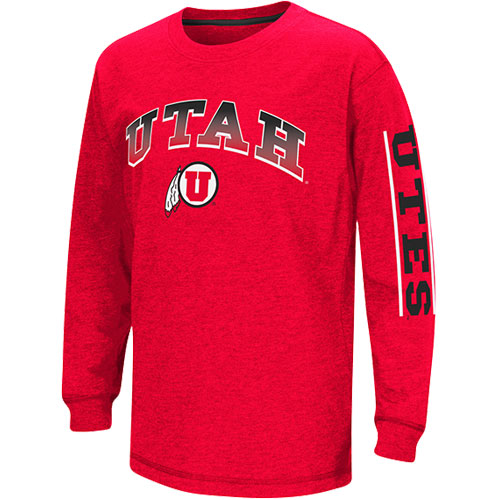Image For Colosseum Utah Athletic logo Red long sleeve