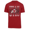 Image for 47 Brand Distressed Utah Utes Athletic Logo T-Shirt