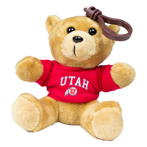 "Image For Utah Utes 3"" Athletic Logo Bear Keychain"