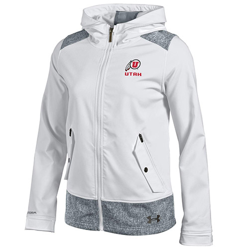 Cover Image For Under Armour Women's Athletic Logo Full Zip Hooded Jacket