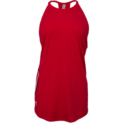 Image For Under Armour Right Athletic Logo Red Women Tank Top