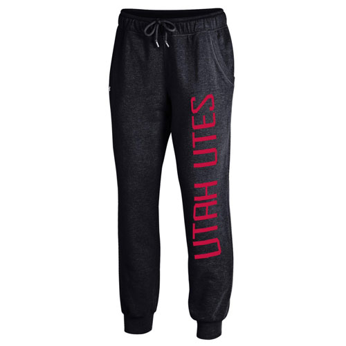 Image For Under Armour Women Black Utah Utes Jogger Pants