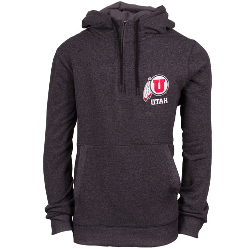 Cover Image For Under Armour Utah Athletic logo Fleece Quarter Zip Hoodie