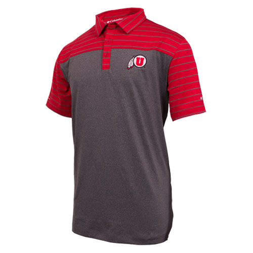 Cover Image For Columbia Utah Athletic Logo Polo Shirt
