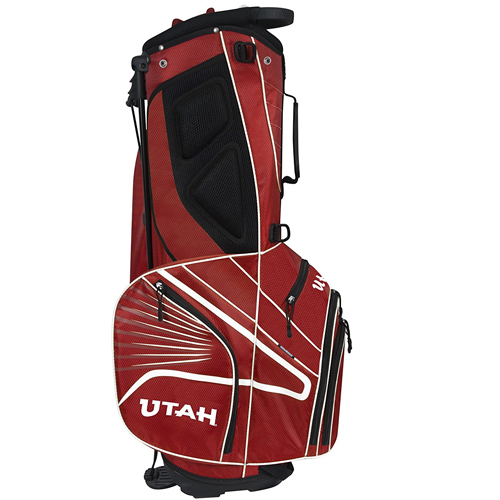 Cover Image For Utah Utes Athletic Logo Gridiron III Stand Bag