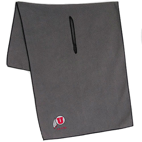 Image For Athletic Logo Go Utes Microfiber Golf Towel WithCenter Slit