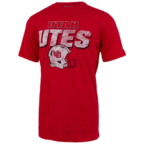 Image For Champion Utah UTES Football Red T-shirt