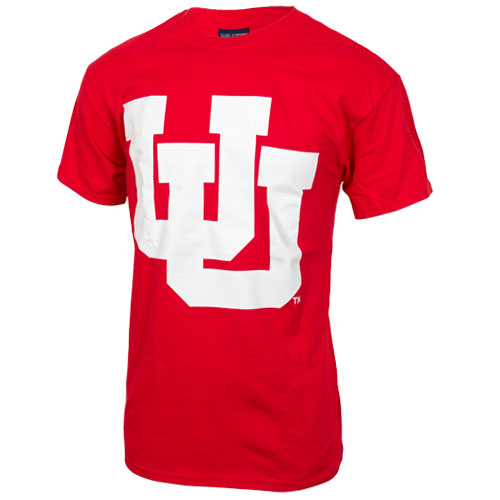 Cover Image For Utah Utes Interlocking U Red T-Shirt