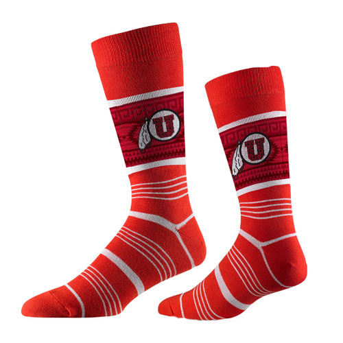 Image For Strideline Ute Proud Athletic Logo Red Socks