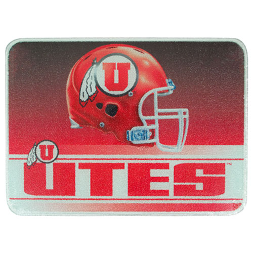 Image For Utes Athletic Logo Helmet Cutting Board